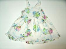 Fresh Produce Girl's Dress White Sleeveless Ruffle Sea Shells 18 Months