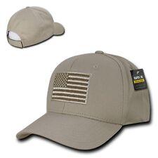 Khaki Tan Usa Us American Flag Patch Military Combat Tactical Operator Cap Hat