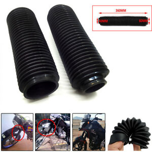2pc Protect Fork Dust Covers Gaiters Boots Shock Rubber For Motorcycle Dirt Bike