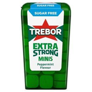 3x 12.5g Trebor Mighties Sugar Free Mints Peppermint Flavour Mini Mint