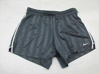 NIKE SIZE M(8-10) WOMENS BLACK ATHLETIC SPORTSWEAR RUNNING TRACK SHORTS 426