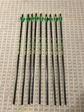 """Gold Tip Hunter XT 340 Spline Arrow 6 Pack with 2/"""" Factory Vanes"""