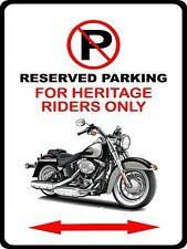 Harley Heritage Softail Motorcycle Bike No Parking Sign NEW