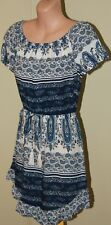 Women's Blue and White Dress - Le Salty Label - Size XS