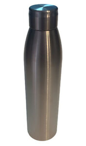 Tervis Silver NEW 25oz  Slim Water Bottle Stainless w Screw On Lid