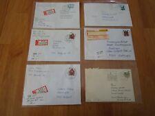 Bund BRD EF R-Brief u.a. 1140 1142 1623 1938 mit rücks. Nr. Pracht