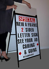 Double Side Sidewalk A Frame Sandwich Sign Message Board W/2 Protective Covers