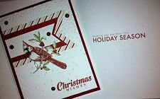 Handmade Stampin' Up Christmas Cardinal Greeting Card