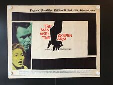 """The Man with the Golden Arm Original Half Sheet Movie Poster 1960- 28""""x22"""" VG/EX"""