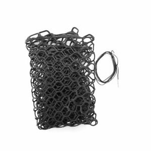 """FISHPOND NOMAD 15"""" REPLACEMENT RUBBER NET BAG IN BLACK COLOR FITS MID SIZE NETS"""