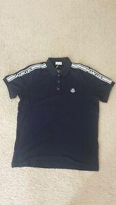 Moncler Men's Embroidered Logo Polo Shirt,blue,XL