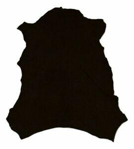 Wholesale ! Super Thin 1 oz Black Suede Sheepskin Lining Leather Hide Dollmaking