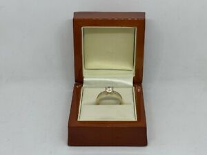 9ct Yellow Gold Cubic Zirconia Solitaire Ring