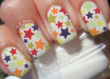 Stars A1083 Nail Art Stickers Transfers Decals Set of 22