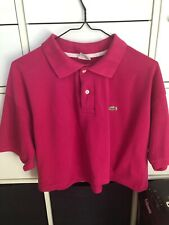 Pink Cropped Polo Shirt Xl Lacoste