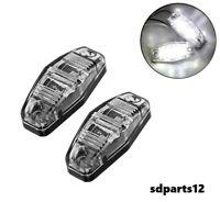 2x12V Blanc SMD 2 LED Lampes Feux De Gabarit Camion Caravane Chassis