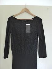 Beautiful BNWTS ZARA Black Lace Top Knit Pencil Dress Eur L {12-14}