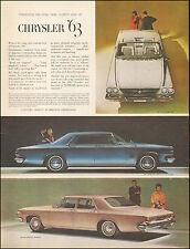 1962 Vintage ad for Chrysler '63 Retro Car Blue Pink Photo (012117)