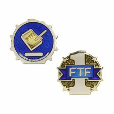 First To Find FTF Micro Geocoin - Gold Geocaching Trackable Official