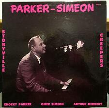 KNOCKY PARKER & OMER SIMEON storyville creepers LP VG+ GHB-19 Mono USA Jazz Orig