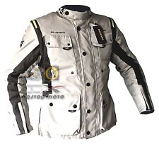 Giacca moto AQL 3 strati KARENNE estiva invernale antiacqua grigio maxdura ->3XL