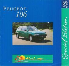 Peugeot 106 Key Largo 1.0 3-dr Limited Edition 1994 UK Market Sales Brochure