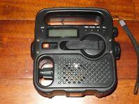 Eton/American Black FR-360 Portable AM/FM/NOAA Radio +Solar Power/Flashlight