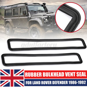 2x Rubber Bulkhead Vent Seal For Land Rover Series Defender 90 110 #MUC4299