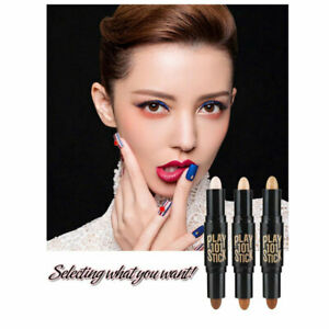 Double-Ended 2 In 1 Face Contouring Highlighters Pen Corrector Cosmetic Makeup#Q