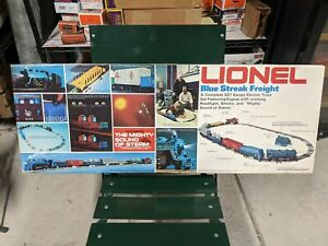 LIONEL O GAUGE No. 1385 BLUE STREAK FREIGHT STEAM TRAIN SET NEW IN BOX