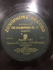 ANNIE REES-VIOLET OPPENSHAW Barcarolle GONDOLIERS ZONOPHONE RECORD 78 RPM INDIA