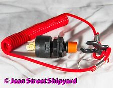 Universal Safety Teather Ignition Kill Switch and Lanyard Watercraft PWC Boat