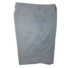 Adidas Men's 40 Gray Climalite 3 Stripes Stretch Flat Front Golf Shorts Cv4042