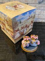 Wee Forest Folk C-4 The Flower Girls Cinderella's Wedding Pink Blue with WFF Box
