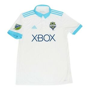 Seattle Sounders FC MLS Adidas Men's White Official Climacool Replica Jersey