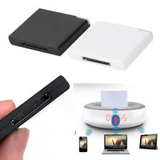 30 Pin Dock Speaker Bluetooth Music Audio Receiver Adapter For iPod iPhone PC QP