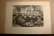 """Pierre Vidal 1849- ?, Eau-forte originale, """"Terrasse de Café"""", 1903, TB !!"""