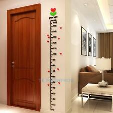 1.8m Kids Height Chart 3D Acrylic Nursery Wall Stickers Measurement Ruler Decal