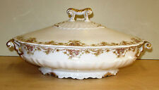 Limoges, France - Theodore Haviland Casserole Dish with Lid and Gold Trim 3833