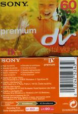 * N°2 Sony VIDEO CASSETTE MINI DV PREMIUM 60 minuti (LP: 90 minuti) *