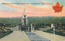 HAMILTON ON – Gage Park Memorial Fountain