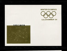 Guyana1993 Olympics/Soccer/Skiing Michel BL 311-12 Imperf Sheetlets SPECIMENS