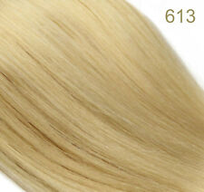 "18"" long 7 Piece Real Human Clip in Hair Extensions Blonde Brown Black"