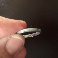 Vintage Platinum Band / Ring Etched Flowers