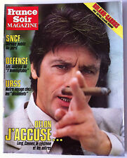 France Soir Magazine du 26/05/1984; Delon j'accuse.../ Liz Taylor/ Sardou/ Escou