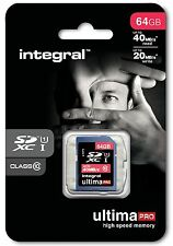 Integral 64GB Ultima Pro SDHC 45MB / S Classe 10 Scheda Di Memoria Velocità Veloce Scheda SD