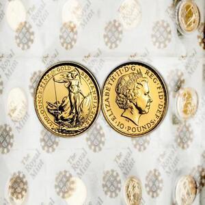 Great Britain 2012 Britannia 10 Pounds 1/10 oz Gold BU Coin 20pc one Sheet Mint