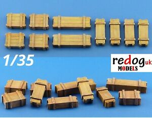 1/35 Boxes Military Scale Resin Modelling Stowage Kit Diorama Accessories 4