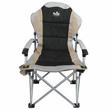 Royal Commander Chair Black Beige Folding Camping Fishing Picnic Beach