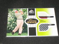 Jay Haas Golf 2013 Topps Certified Authentic Player Worn Memorabilia Card